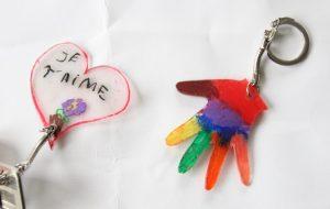 Porte-clefs plastique dingue