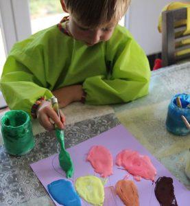 Ballons peinture relief