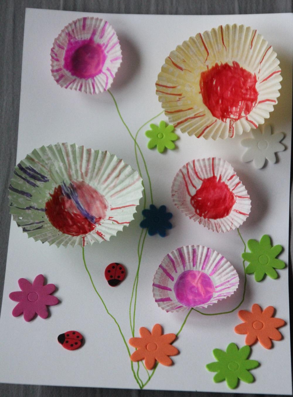 Bouquet de fleurs en caissette muffins payette family for Bouquet de fleurs 2016