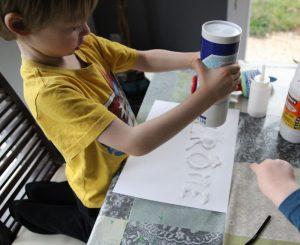 Colle et sel peinture