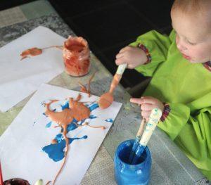 Peinture mousse à raser