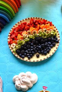 Salade de fruits arc en ciel