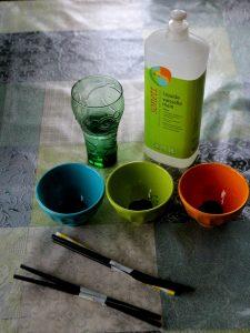 Peindre avec de la mousse