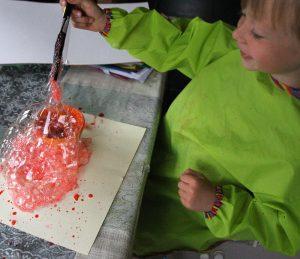 Peindre avec des bulles de savon