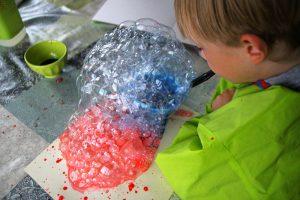 Peinture mousse bulles de savon