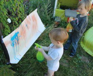 Peinture au pulvérisateur