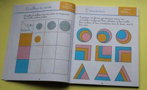 contenu du cahier mathématique Montessori
